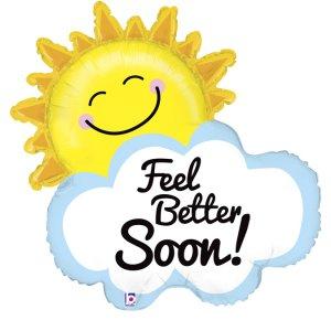 Sun and Cloud Feel Better Soon Supershape Balloon