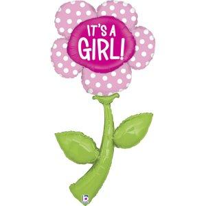 Λουλούδι Μαργαρίτα Ροζ It's A Girl Supershape Μπαλόνι