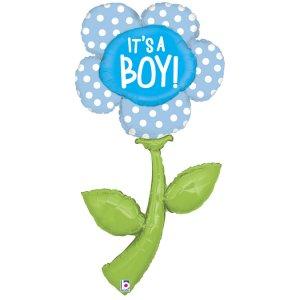 Λουλούδι Μαργαρίτα Ροζ It's A Boy Supershape Μπαλόνι