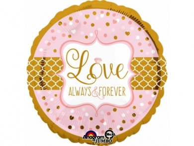 Love Always and Forever Μπαλόνι Supershape Χρυσό και Ροζ (71εκ)