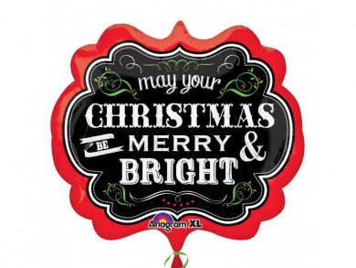 May Your Christmas Be Merry And Bright Supershape Μπαλονι Για τα Χριστουγεννα