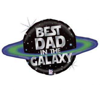 Μπαλόνι Supershape με Μήνυμα Best Dad In The Galaxy (79εκ)
