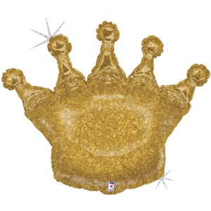 Crown Gold Holographic Design Balloon Supershape