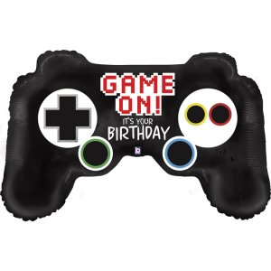 Game Controller Game On for Birthday Balloon Supershape