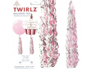 Pink Tail for Large Balloons