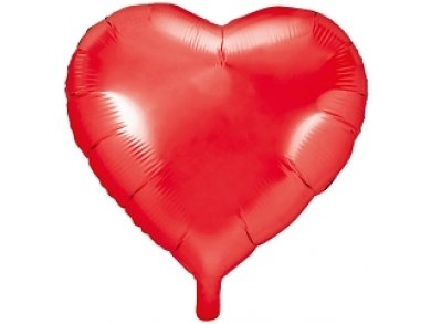 Red Heart Shaped Foil Balloon (61cm)