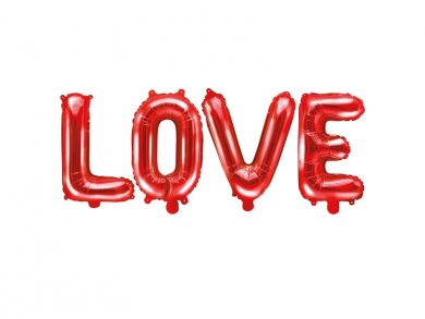 Red LOVE Foil Balloon Letters (140 x 35)