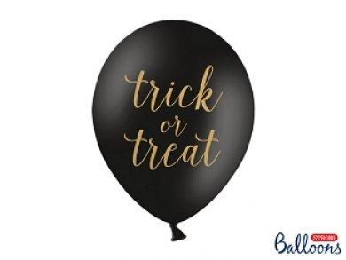Μαύρα Μπαλόνια Λάτεξ Trick Or Treat (6τμχ)