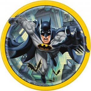 Batman Large paper Plates 8/pcs