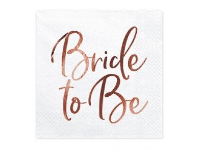 Bride to Be White Luncheon Napkins 20/pcs