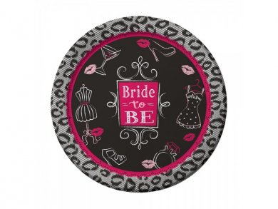 Bride to Be Animal Print Large Paper Plates (8pcs)