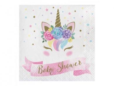 Μπεμπέ Μονόκερος Χαρτοπετσέτες για Baby Shower (16τμχ)