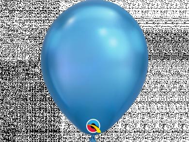 Blue Chrome Latex Balloons 6pcs