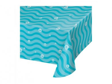Paper Tablecover Blue Under the Sea Theme (137cm X 259cm)