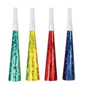 Multicolor Party Horns (6pcs)