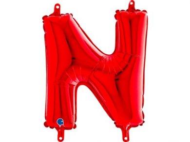 N Μπαλόνι Γράμμα Κόκκινο (35εκ)