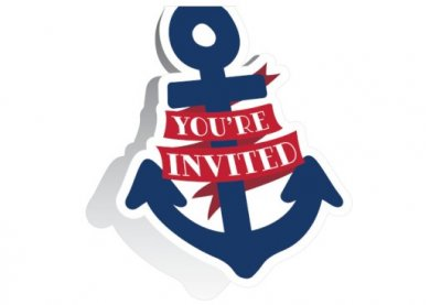 Ναυτικό Αγόρι Προσκλήσεις για Πάρτυ (8τμχ)