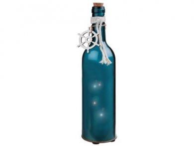 Ναυτικό Μπλε Μπουκάλι με Φωτάκια LED (30εκ)