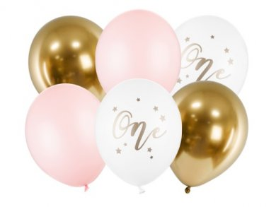 Number 1 Girl Latex Balloons (6pcs)