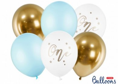 Number 1 Boy Latex Balloons (6pcs)