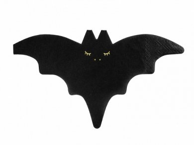 Bat Black Shaped Napkins (20pcs)