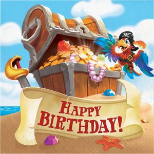 Ο Θησαυρός Του Πειρατή Χαρτοπετσέτες Για Γενέθλια (16τμχ)