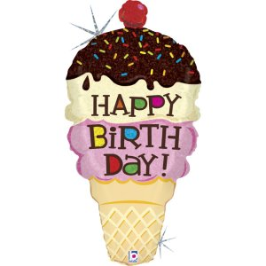 Παγωτό Μπαλόνι Supershape Για Γενέθλια