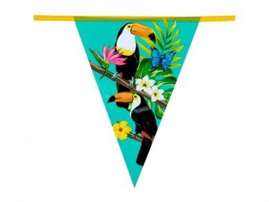 Toucan Parrots Flag Bunting (6m)