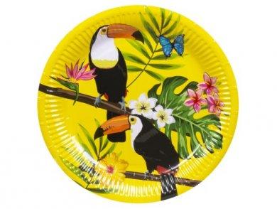 Toucan Parrots Large Paper Plates (6pcs)