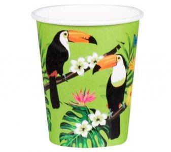 Toucan Parrots Paper Cups (6pcs)