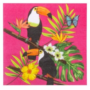 Toucan Parrots Luncheon Napkins (12pcs)