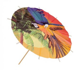 Parrots on the Beach Decorative Picks (6pcs)