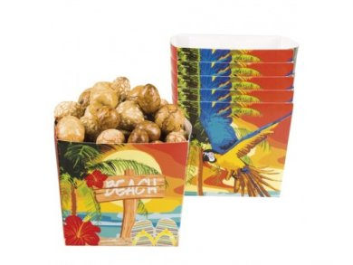 Parrots on the Beach Treat Boxes (6pcs)