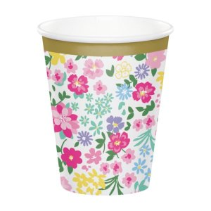 Floral Tea Party Paper Cups (8pcs)