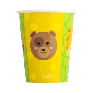 Smiling Animals Paper Cups (8pcs)
