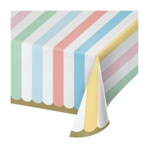 Paper Tablecover with Pastel Colors (137cm x 259cm)