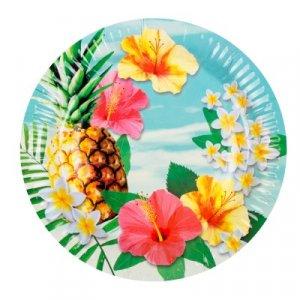 Pineapple Paradise Large Paper Plates (6pcs)