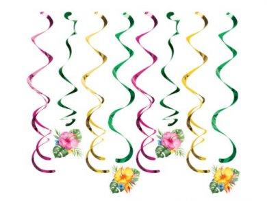Floral Paradise Swirl Decorations (8pcs)