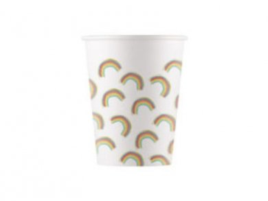 Rainbow Party Paper Cups (8pcs)