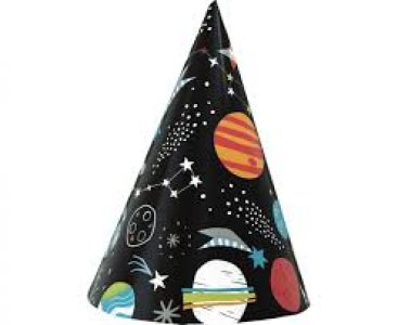 Party In Space Party Hats (8pcs)