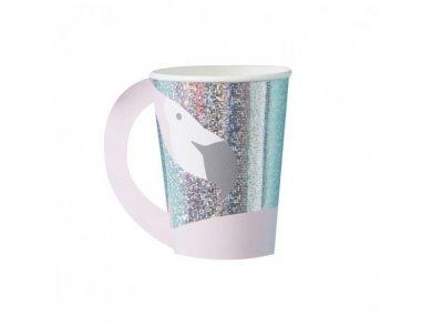 Flamingo Holographic Paper Cups (8pcs)