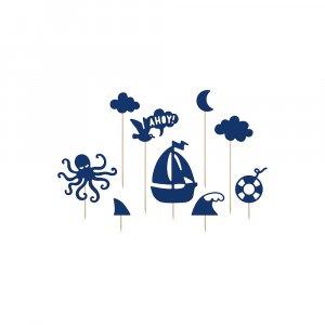 Sea Theme Toppers (9pcs)