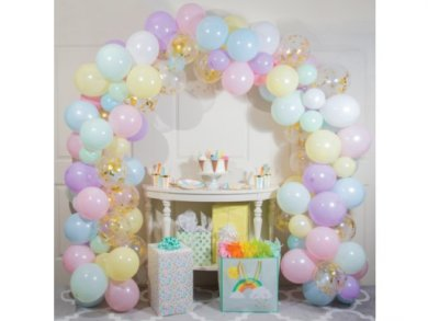 Pastel Colors Latex Balloons Garland - Arch (4,80m)
