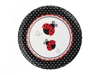 Ladybug Large Paper Plates (8pcs)