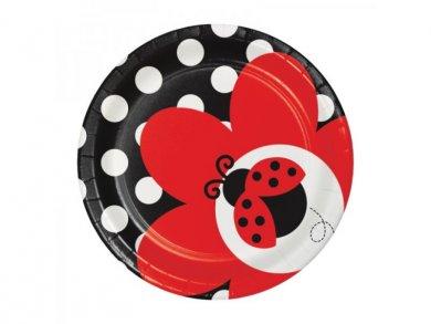 Ladybug Small Paper Plates (8pcs)