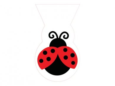 Ladybug Plastic Treat Bags (12pcs)