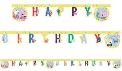 Peppa The Pig Happy Birthday Garland (2m)