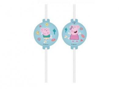 Peppa the Pig Paper Straws 4pcs