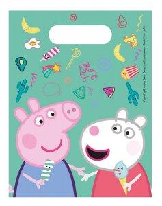 Peppa The Pig Plastic Lootbags (6pcs)