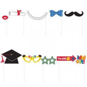 Graduation Colorful Photobooth Props (10pcs)